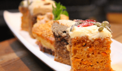 The Garlic Farm, Newchurch – Tempting Cake Mezze for Two with Tea or Coffee – normally up to £8.95 deal price £5.95