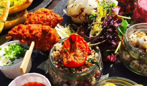 The Garlic Farm, Newchurch – Tempting Mezze Sharing Platter for Two or Two Garlic Farm Burgers – normally up to £25.95 deal price £18.95