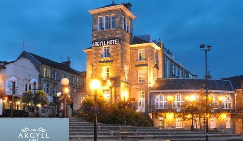 The Argyll Hotel, Dunoon – Five-Day Trip direct from the Island including Half-Board Accommodation, Entertainment, Coach Travel and Ferry Crossings – deal price £264.00 per person or £25.00 per person deposit option