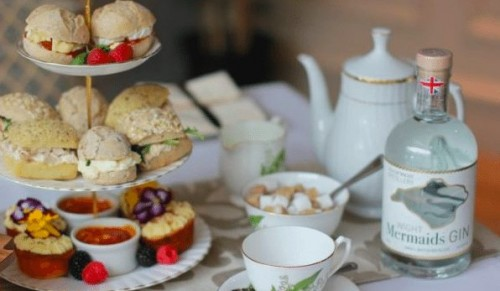 The Stern Room at The Spinnaker, Bembridge – Isle of Wight Inspired Afternoon Tea for Two with or without Mermaids Gin and Tonic – normally up to £42.70 deal price from £22.95