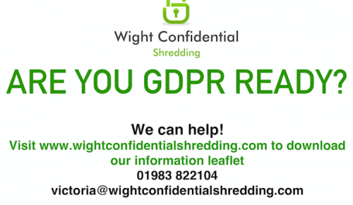 Are you GDPR Ready at Wight Confidential Shredding – Promotional Feature