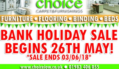 Discover some fantastic sales in store at Choice Carpets this Bank Holiday Weekend – Promotional Feature