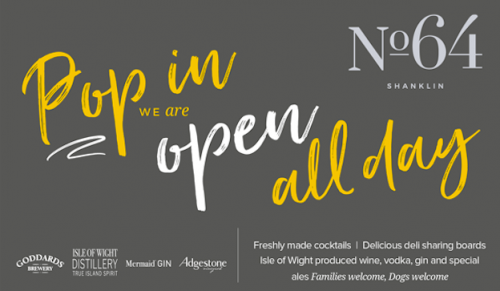 Do you love fresh cocktails and exciting food at No.64, Shanklin – Promotional Feature