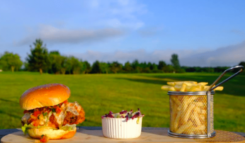 The Club House Cafe, Newport Golf Club, Newport – Round of Golf with Jack Daniels Burger or Sunday Roast with Round of Golf – normally up to £30.00 deal price from £15.00