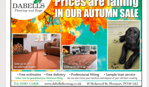 Save in the Dabells Flooring and Rugs Autumn Sale – Promotional Feature