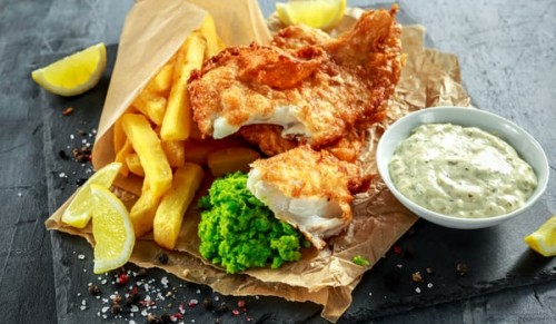 Appley Beach Cafe, Ryde – Freshly-Made Fish and Chips for Two – normally £15.95 deal price £9.95