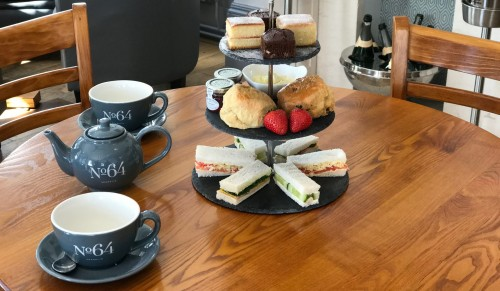 No. 64, Shanklin – Afternoon Tea for Two with or without Cocktails – normally up to £30.00 deal price from £13.95