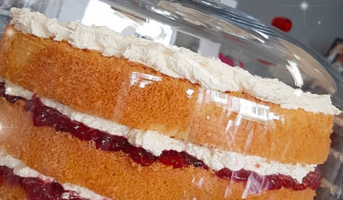 The Cakery Cafe, Ryde – Victoria's Treat Sponge Cake with Regular Hot Drink & Slice of Shortbread – normally £5.10 deal price £3.00
